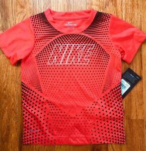 Nike Boy's Dri Fit T Shirt Athletic Tee Short Sleeve Size 4 5 6 7 New