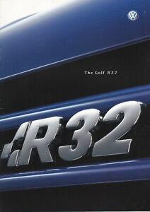 brochure 2003 VOLKSWAGEN GOLF R32 !!! ______ english text ______________________