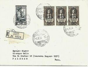 1953 TRIESTE A 25L CORELLI +5L LAVORO SU RACCOMANDATA X PALERMO