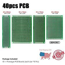 40 Pcs Double Side Protoboard Circuit Prototype Diy Pcb Board 2x8 3x7 4x6 5x7cm