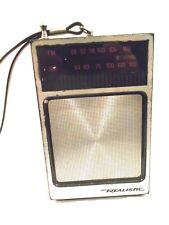 Realistic AM/FM Transistor Radio-Works Great Model 12-714