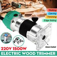 220V 1500W 6MM Elettrofresatrice Fresatrice Elettrica Rifilatore Trimmer Router