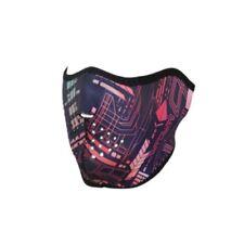 Neon Computer Circuit Robot Cyborg Neoprene Half Face Mask Biker Free Shipping