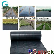 6Fx150Ft Weed Barrier Fabric Landscape Weed Blocker Fabric Heavy Duty breathable
