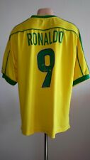 Football shirt Brazil Brasil Home 1998-2000 Nike jersey World Cup Ronaldo #9 XL