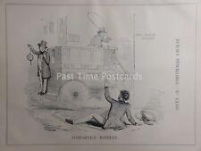 C1843 Nuovo Ufficio postale RAPINA Penny Black timbro 1d tutto il percorso satirico cartoni animati