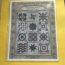Counted Cross Stitch - Whispered by the Wind - Friendship Quilt II for Landscape