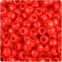 *3 for 2* 100 Bright Red Opaque 9x6mm Barrel Highest Quality Pony Beads