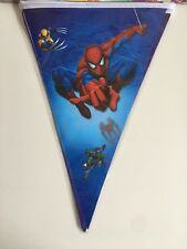 Spiderman Triangle Flag Banner kids Birthday Party Decorations