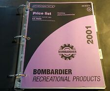 2001 SEA-DOO CLOTHING, PARTS & ACCESSORIES DEALER PRICE LIST MANUAL  (952)
