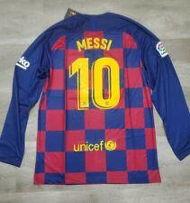 Lionel Messi #10 FC Barcelona 19/20 Home Long Sleeve Jersey - Men's Size Medium