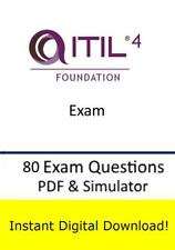 ITIL Foundation v4 Test Exam (80 Questions PDF Simulator->Email)
