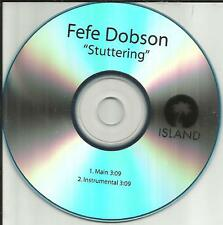 FEFE DOBSON Stuttering w/RARE INSTRUMENTAL TST PRESS PROMO DJ CD single 2010 USA