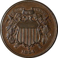 1864 Two (2) Cent Piece Great Deals From The Executive Coin Company