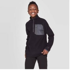 Boys Black 1/4 Zip Pullover - C9 by Champion - XS S M XL  #ME59