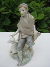 """Mint! Exquisite Lladro # 4817 """"Little Shepherd With Goat"""" Retired 1982"""