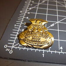 Golden Days Fairbanks Alaska 2005 Collectors Lapel Pin, beautiful bag of gold
