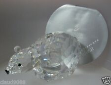 SWAROVSKI SILVER CRYSTAL 1986 LARGE-POLAR BEAR VAR 2 MINT IN BOX 137477