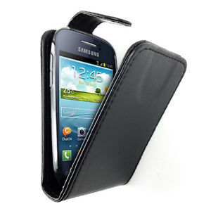Samsung Galaxy Young S6310 S6310T Telstra PU Leather Flip Gel TPU Case Cover