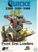 Equipment Brochure - Alo - Quicke 2300 3301 3360 Loader Lawrence Edwards (E1030)