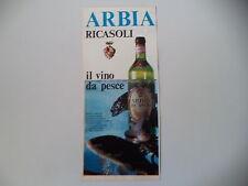 advertising Pubblicità 1972 VINO ARBIA RICASOLI