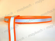 "10 yards - 1"" Orange Reflective Tape - nylon webbing strapping"