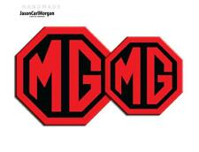 MG TF LE500 Badge Inserts Front & Rear 70mm 90mm Black Red Logo Badges