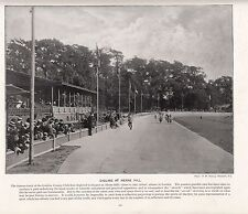 1897 VICTORIAN PRINT ~ CYCLING ~ LONDON COUNTY CLUB HERNE HILL CYCLISTS