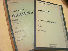 For the Vocalist - Songs, vol. I by Johannes Brahms, and Brahms Alto Rhapsody