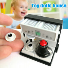 SU Dollhouse 1:12 Miniature Kitchen Expresso Coffee Maker Machine with Pot Cup