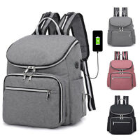 Large Mummy Diaper Bag USB/Earphone Port Baby Nappy Travel Backpack Bottle Hold