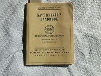 United States Navy Driver's Handbook - Bureau Yards & Docks USN KOREAN WAR
