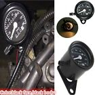New Universal Motorcycle Dual Odometer Speedometer Gauge LED Backlight Black