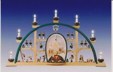 Arcata Freiberg 70cm Seiffen Arco luci NUOVO Erzgebirge Decorazione per finestra