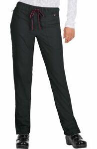 "Koi Lite Scrubs #723 Elastic Waist Detailed Jogger Scrub Pant in ""Black"" Size S"
