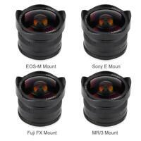 7Artisans 7.5mm Fixed Focus Lens for Sony E FujiFilm FX Canon EF-M Mount Camera