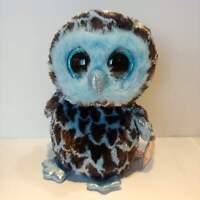 "Yago the Owl - Ty Beanie Boo Plush - Style 36896 - Regular 6"" 15cm - NEW"