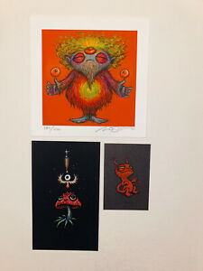 Marq Spusta Art Prints Pack (3) Zenzo S/N Mushroomhead Black Rubber UV Inks!!