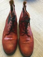 Women's Brako red leather boots size 39