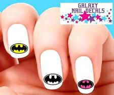 Waterslide Nail Decals - Set of 20 Batman Pink, Clear & Yellow Assorted