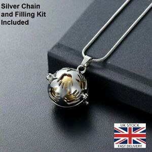 Hands Holding You Close Cremation Urn Pendant Ashes Necklace Funeral Memorial UK