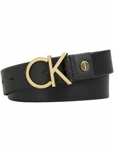 Calvin Klein Damen Gürtel CK Adj Logo Belt Leder
