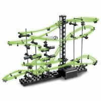 Glow In The Dark Space Rail Race 10m Track Marble Run Space Toy Game Child Gift