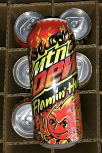 🔥 Mountain Dew Flamin' Flaming Hot Limited Edition Mtn Dew 1 Can IN HAND 🔥