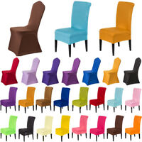Stretch Fit Chair Covers Slipcovers Dining Room Stool Seat Wedding Banquet Party