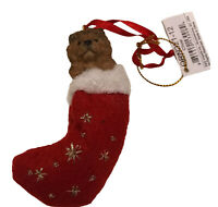 Chow Chow Christmas Stocking Ornament E & S Pets Tan Brown New Gift