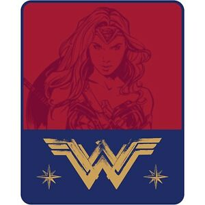 "Wonder Woman Plush Throw ""Purple Stars"" ""Truth, Love, Strength"" & ""Jet Setter"""