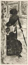Degas Print Reproduction: At the Louvre (Mary Cassatt), Fine Art Print