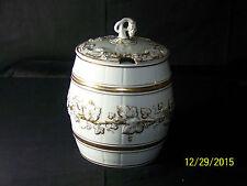 RARE-KPM Antique c1840-1895 Gold Gilded Berry&Leaf Barrel Cooler/Punch Bowl