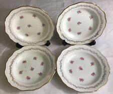 Lot2 De 4 Assiettes Creuses En Demi Porcelaine L'amandinoise France D 24 Cm